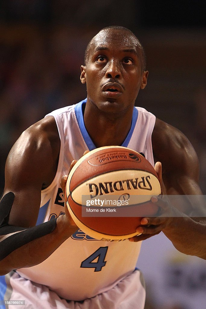 Cedric Jackson of the Breakers takes a free throw during the round 12 NBL match between the Adelaide 36ers and the New Zealand Breakers at Adelaide Arena on December 28, 2012 in Adelaide, Australia.