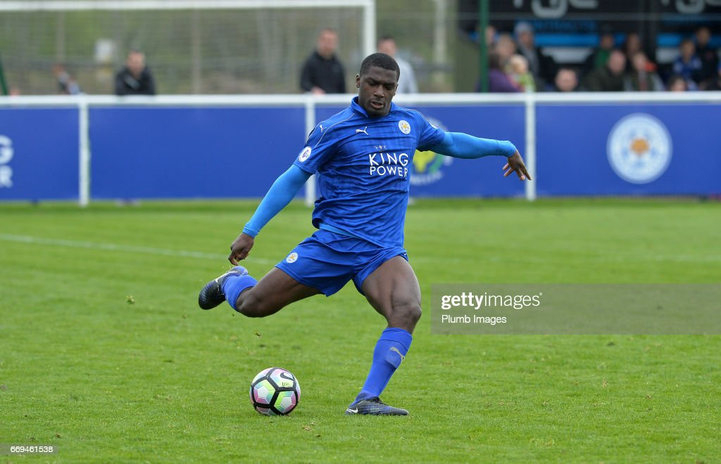 Cedric Kipre of Leicester City during the game between Leicester City and Liverpool: Premier League 2 match at Holmes Park on April 17 2017 in Leicester, United Kingdom