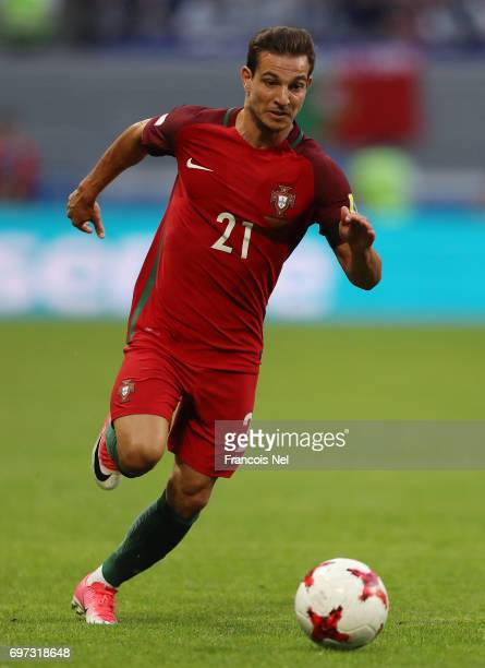 Cedric of Portugal in action during the FIFA Confederations Cup Russia 2017 Group A match between Portugal and Mexico at Kazan Arena on June 18 2017...