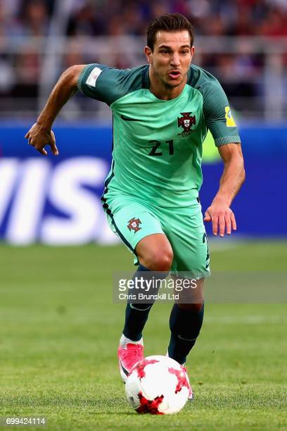 Cedric of Portugal in action during the FIFA Confederations Cup Russia 2017 Group A match between Russia and Portugal at Spartak Stadium on June 21...