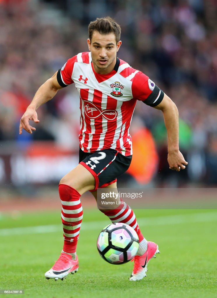 Cedric of Southampton in action during the Premier League match between Southampton and AFC Bournemouth at St Mary's Stadium on April 1, 2017 in Southampton, England.