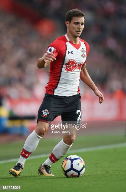 Cedric of Southampton in action during the Premier League match between Southampton and Newcastle United at St Mary's Stadium on October 15 2017 in...