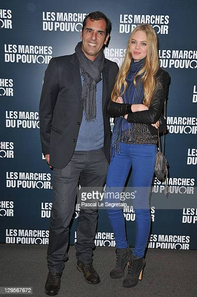 Cedric Pioline and girfriend attend 'The Ides of March'Paris Premiere at Cinema UGC Normandie on October 18 2011 in Paris France