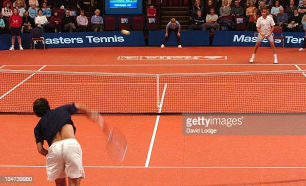 Cedric Pioline during The Delta Tour of Champions 2005 Masters Tennis Day Two at Royal Albert Hall in London Great Britain