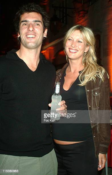 Cedric Pioline his wife during Tennis Legends Party at Passage Royal Concorde in Paris France