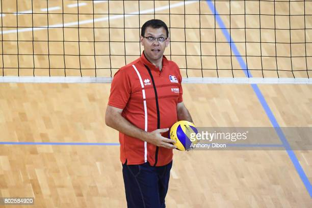 Cedric Renard assistant coach of France during a training session of the French volleyball national team on June 28 2017 in Vincennes France