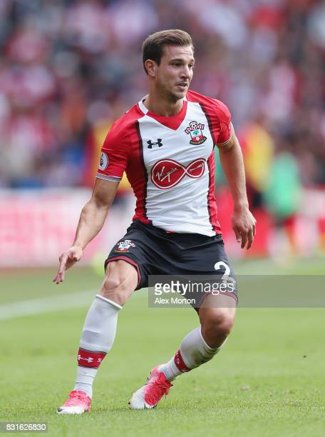 Cedric Soares of Southampton during the Premier League match between Southampton and Swansea City at St Mary's Stadium on August 12 2017 in...