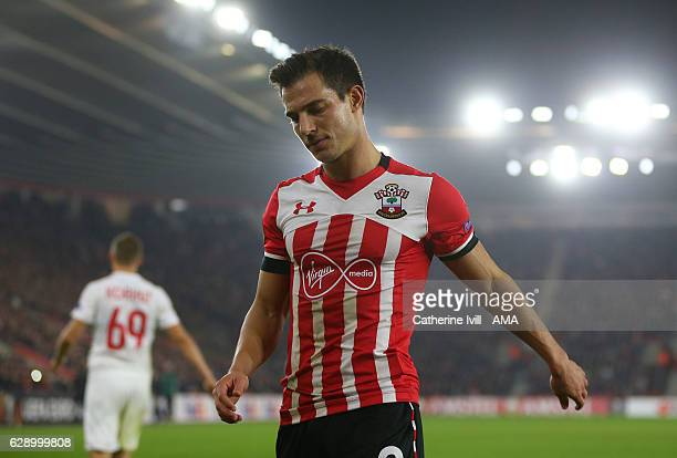 Cedric Soares of Southampton during the UEFA Europa League match between Southampton FC and Hapoel BeerSheva FC at St Mary's Stadium on December 8...