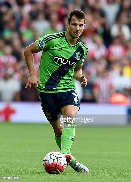 Cedric Soares of Southampton in action during the Barclays Premier League match between West Bromwich Albion and Southampton at The Hawthorns on...