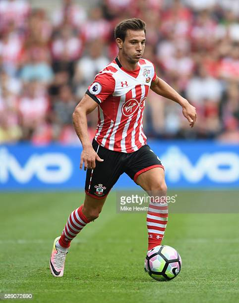 Cedric Soares of Southampton in action during the Premier League match between Southampton and Watford at St Mary's Stadium on August 13 2016 in...