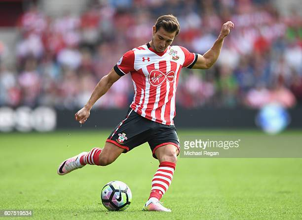 Cedric Soares of Southampton in action during the Premier League match between Southampton and Swansea City at St Mary's Stadium on September 18 2016...
