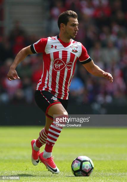 Cedric Soares of Southampton in action during the Premier League match between Southampton and Hull City at St Mary's Stadium on April 29 2017 in...