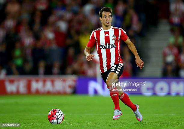 Cedric Soares of Southampton in action during the UEFA Europa League Third Qualifying Round 1st Leg match between Southampton and Vitesse at St...