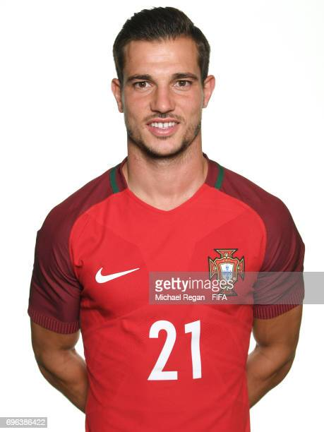 Cedric Soares poses for a picture during the Portugal team portrait session on June 15 2017 in Kazan Russia