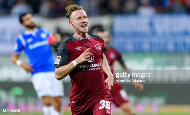 Cedric Teuchert of Nuernberg celebrates the third goal for his team during the Second Bundesliga match between SV Darmstadt 98 and 1 FC Nuernberg at...
