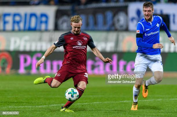 Cedric Teuchert of Nuernberg scores the third goal for his team during the Second Bundesliga match between SV Darmstadt 98 and 1 FC Nuernberg at...