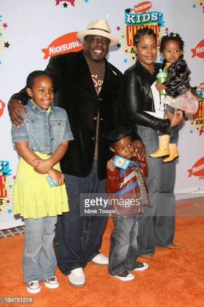 Cedric The Entertainer and Family during Nickelodeon's 19th Annual Kids' Choice Awards Arrivals at Pauley Pavilion in Westwood CA United States