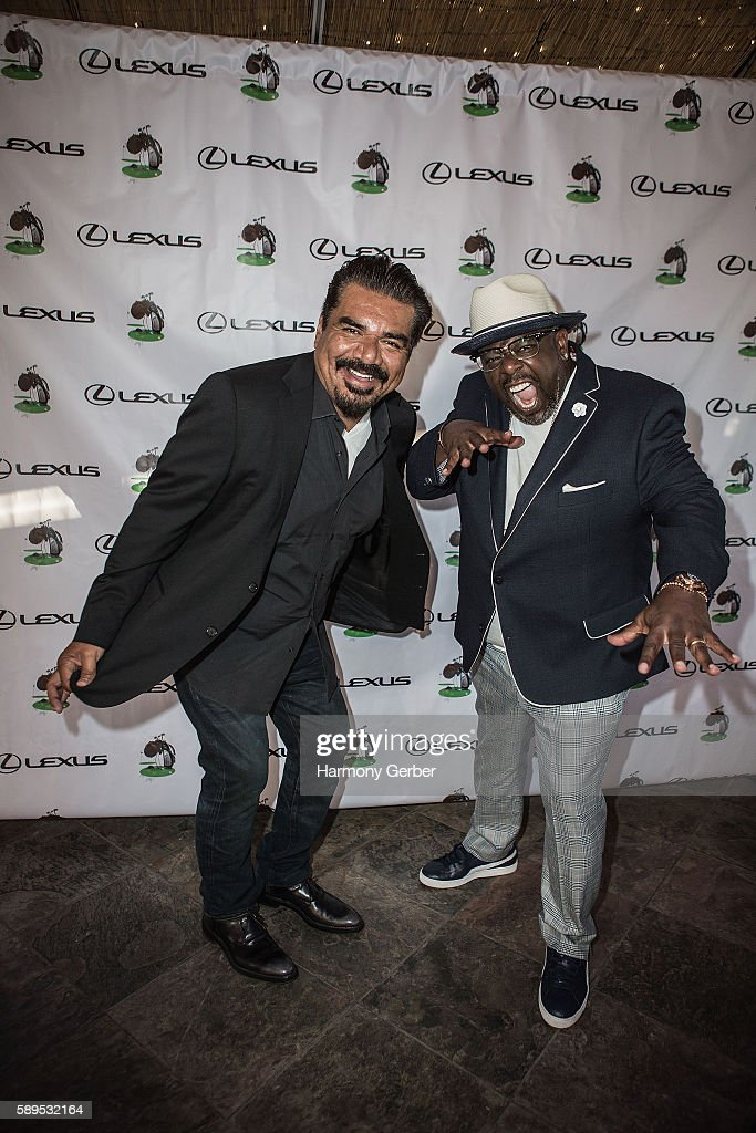 Cedric the Entertainer and George Lopez arrive to Bogie's at Spanish Hills Country Club on August 15, 2016 in Camarillo, California.