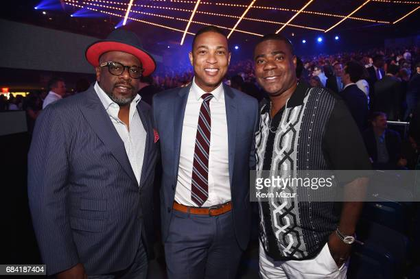 Cedric the Entertainer Don Lemon and Tracy Morgan attend the Turner Upfront 2017 show at The Theater at Madison Square Garden on May 17 2017 in New...