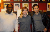 Cedric The Entertainer Haley Joel Osment and John Leguizamo attend the unveiling of 'American Buffalo' of Broadway caricatures of Haley Joel Osment...