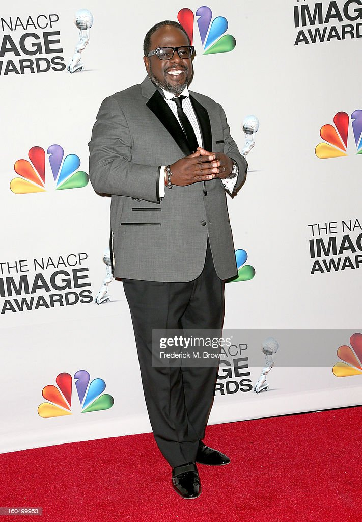 Cedric the Entertainer poses in the press room during the 44th NAACP Image Awards at The Shrine Auditorium on February 1, 2013 in Los Angeles, California.