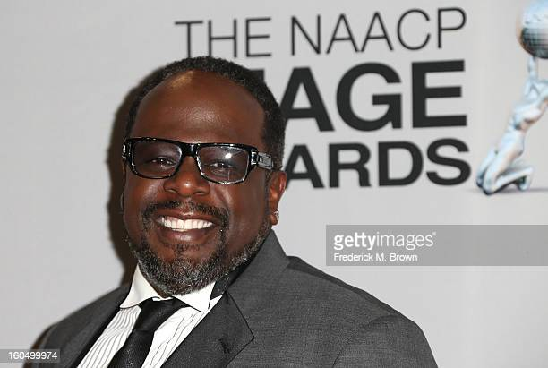 Cedric the Entertainer poses in the press room during the 44th NAACP Image Awards at The Shrine Auditorium on February 1 2013 in Los Angeles...