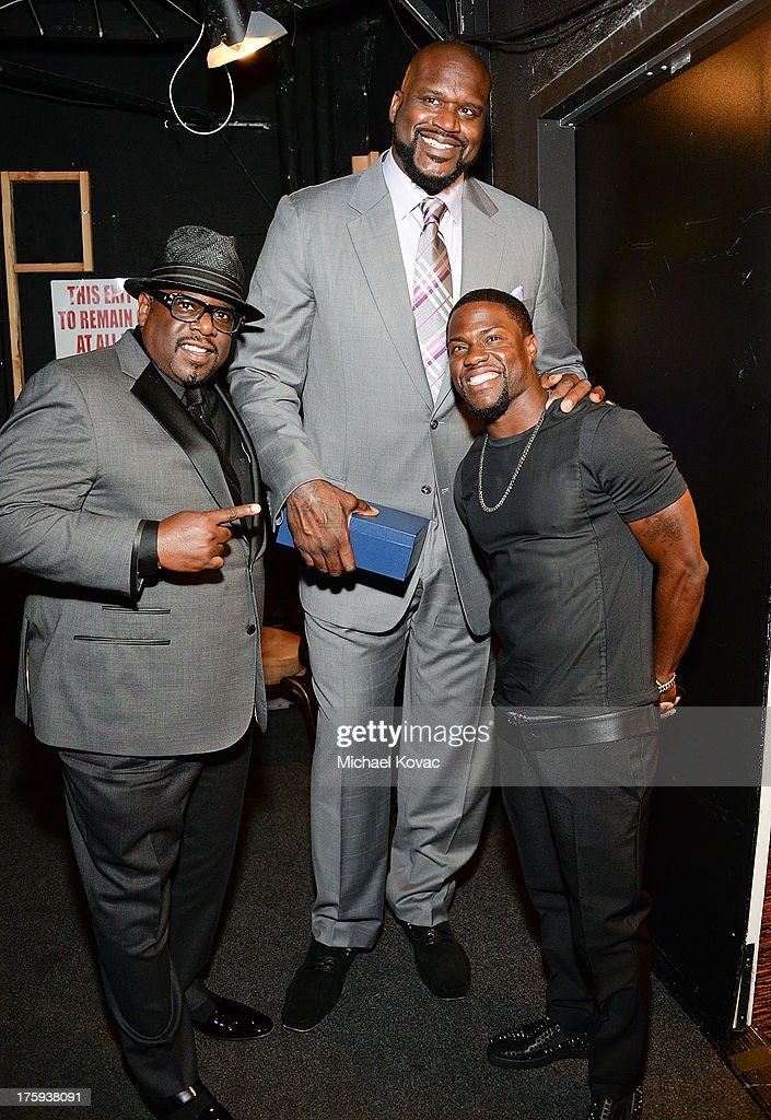 Cedric The Entertainer, Shaquille O'Neal, and Kevin Hart attend 13th Annual Harold And Carole Pump Foundation Gala Honoring Jamie Foxx, Shaquille O'Neal, And Joe Torre at The Beverly Hilton Hotel on August 9, 2013 in Beverly Hills, California.