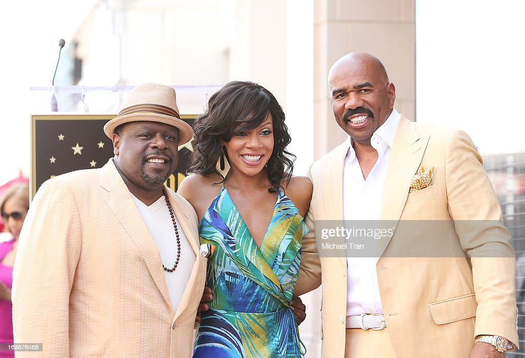 <a gi-track='captionPersonalityLinkClicked' href=/galleries/search?phrase=Cedric+the+Entertainer&family=editorial&specificpeople=210583 ng-click='$event.stopPropagation()'>Cedric the Entertainer</a>, <a gi-track='captionPersonalityLinkClicked' href=/galleries/search?phrase=Wendy+Raquel+Robinson&family=editorial&specificpeople=631178 ng-click='$event.stopPropagation()'>Wendy Raquel Robinson</a> and <a gi-track='captionPersonalityLinkClicked' href=/galleries/search?phrase=Steve+Harvey&family=editorial&specificpeople=210865 ng-click='$event.stopPropagation()'>Steve Harvey</a> attend the ceremony honoring <a gi-track='captionPersonalityLinkClicked' href=/galleries/search?phrase=Steve+Harvey&family=editorial&specificpeople=210865 ng-click='$event.stopPropagation()'>Steve Harvey</a> with a Star on The Hollywood Walk of Fame held on May 13, 2013 in Hollywood, California.