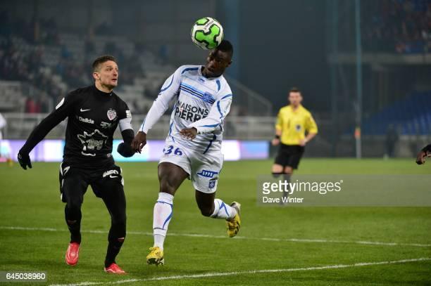 Cedric VARRAULT / Paul Georges NTEP Auxerre / Dijon 30eme journee de Ligue2 Photo Dave Winter / Icon Sport
