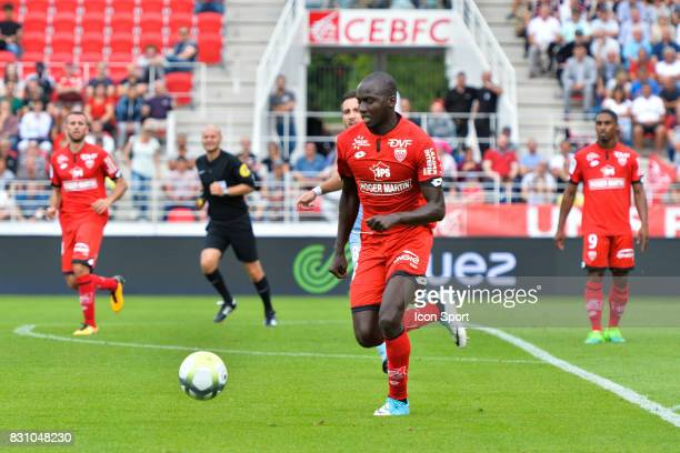 Cedric Yambere of Dijon during the Ligue 1 match between Dijon FCO and AS Monaco at Stade Gaston Gerard on August 13 2017 in Dijon