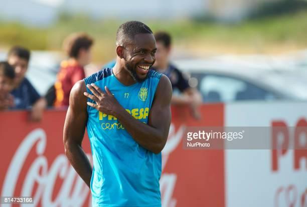 Cedrick Bakambu during the first week of Villarreal CF training session at Ciudad Deportiva of Miralcamp July 14 in Vilareal Spain