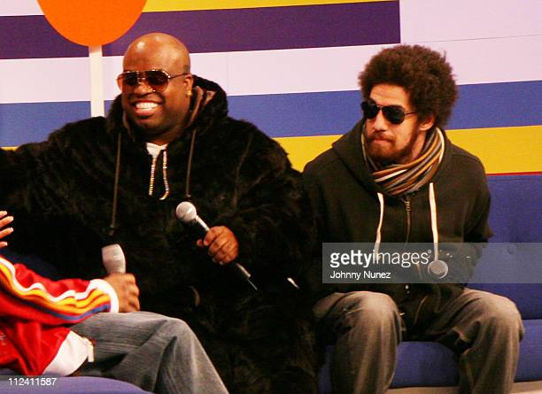 Cee Lo and Danger Mouse during Gnarls Barkley Appear on BET's '106 Park' February 5 2007 at BET Studios in New York City New York United States