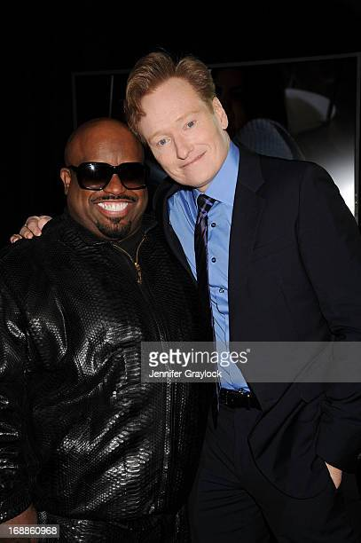 Cee lo Green and Conan O'Brien attend the 2013 TNT/TBS Upfront presentation at Hammerstein Ballroom on May 15 2013 in New York City