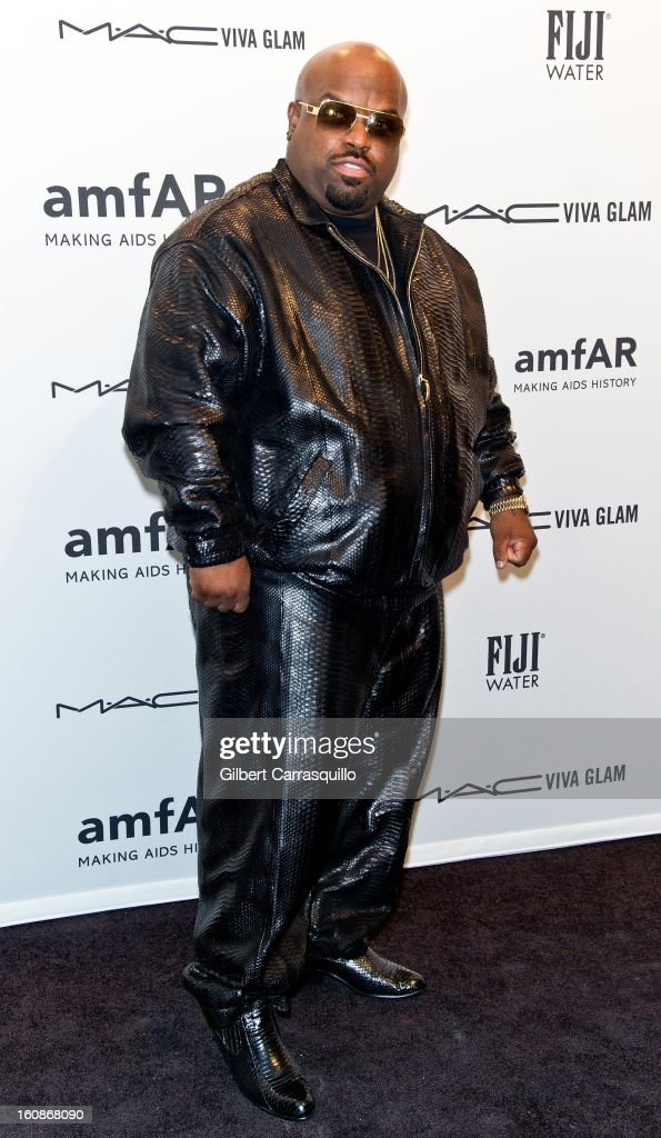 Cee Lo Green attends amfAR New York Gala To Kick Off Fall 2013 Fashion Week at Cipriani, Wall Street on February 6, 2013 in New York City.
