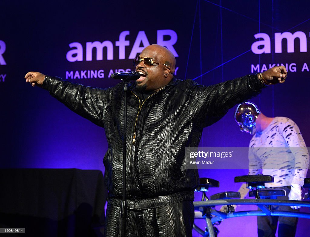 Cee Lo Green attends the amfAR New York Gala To Kick Off Fall 2013 Fashion Week at Cipriani Wall Street on February 6, 2013 in New York City.