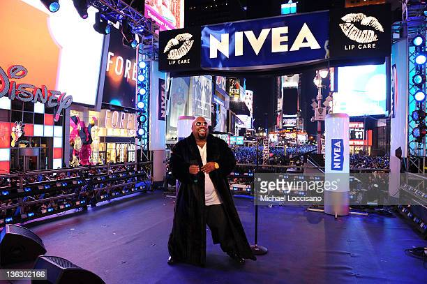Cee Lo Green performs at Bill Giuliana Rancic Ring In New Year's Eve 2012 With NIVEA at Times Square on December 31 2011 in New York City
