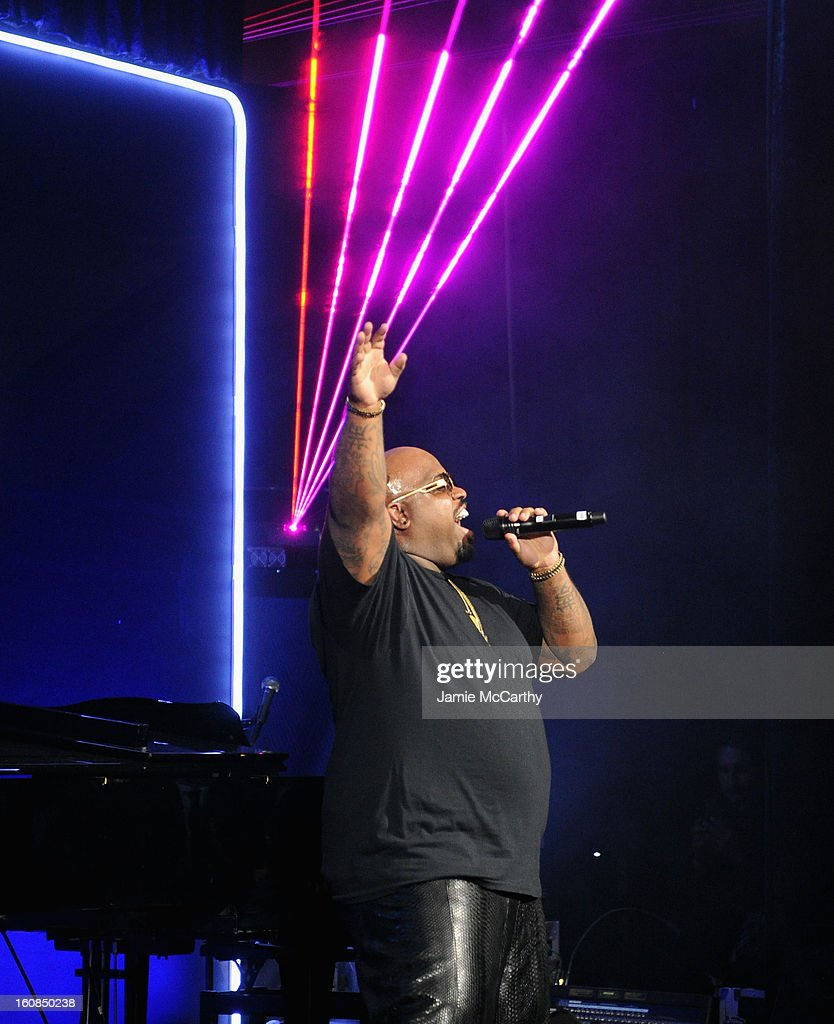 Cee Lo Green performs onstage at the amfAR New York Gala to kick off Fall 2013 Fashion Week at Cipriani Wall Street on February 6, 2013 in New York City.