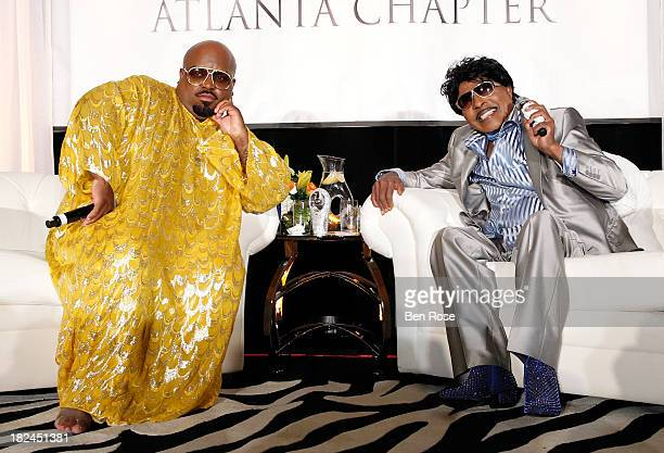 CeeLo Green and Little Richard speak onstage at 'The Legacy Lounge' A conversation with CeeLo Green and his inspiration at W Atlanta Downtown on...