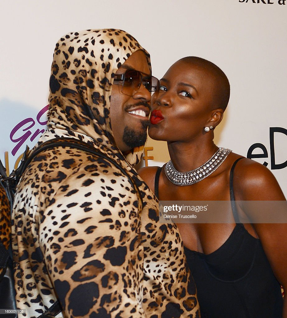 CeeLo Green (L) and V.Bozeman arrive at the residency debut of 'CeeLo Green is LOBERACE' at Planet Hollywood Resort & Casino on March 2, 2013 in Las Vegas, Nevada.