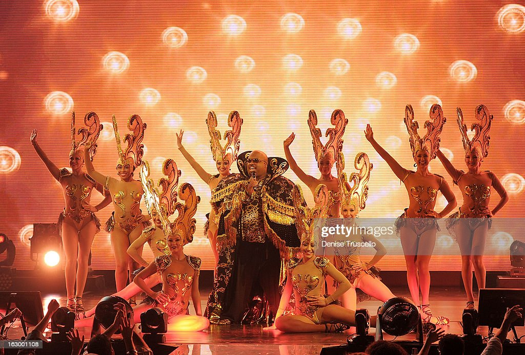 CeeLo Green performs at the residency debut of 'CeeLo Green is LOBERACE' at Planet Hollywood Resort & Casino on March 2, 2013 in Las Vegas, Nevada.