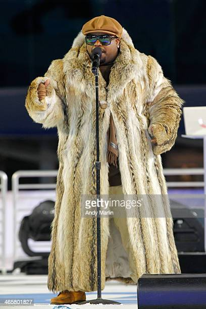 CeeLo Green performs during the 2014 Coors Light NHL Stadium Series at Yankee Stadium on January 29 2014 in the Bronx borough of New York City