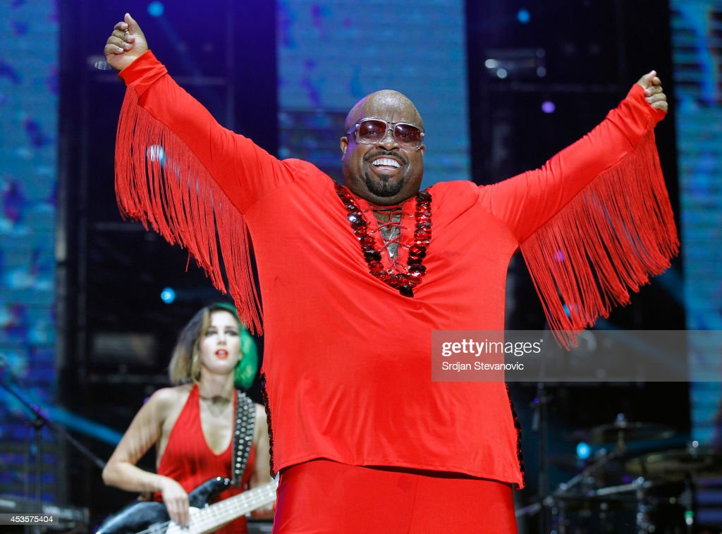 Ceelo Green performs during the Beer Fest on August 13, 2014 in Belgrade, Serbia.