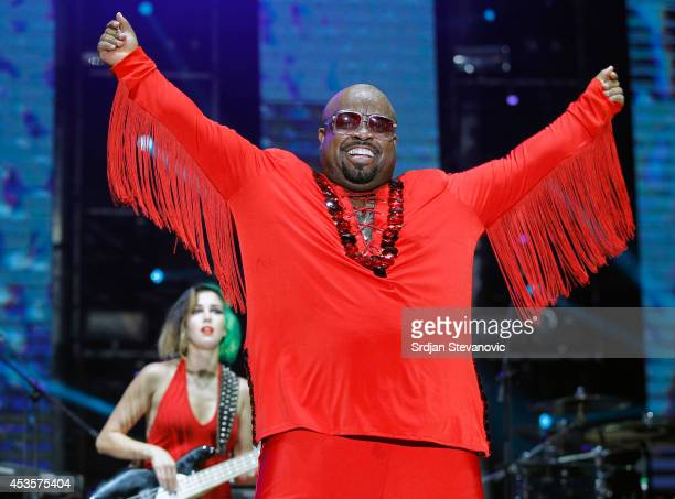 Ceelo Green performs during the Beer Fest on August 13 2014 in Belgrade Serbia
