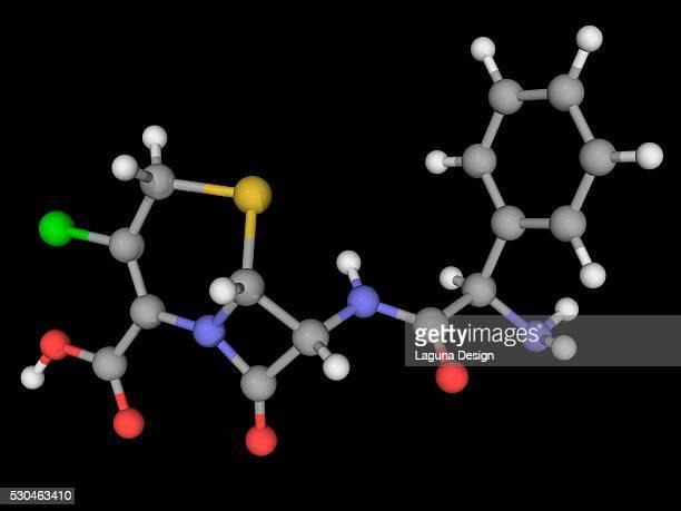 Cefaclor drug molecule