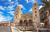 Cefalu cathedral, Norman architecture example, Sicily