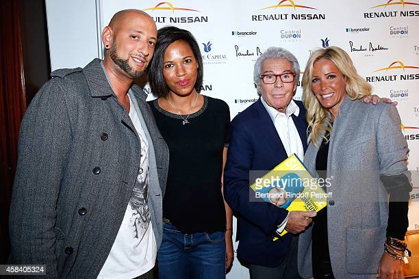Cehdrik Tayeb Marion Ernie JeanDaniel Lorieux and Ophelie Winter attend JeanDaniel Lorieux signs his Book 'Sunstroke' at the Art Bookshop of the...