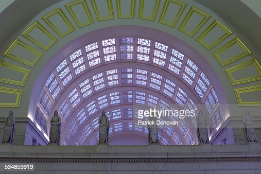 Ceiling and statues, Union Station, Washington DC