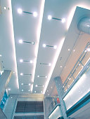Ceiling ang lights of modern building