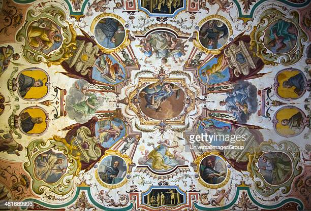 Ceiling frescos in the Uffizi Museum Florence Tuscany Italy