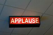 Ceiling Mounted Illuminated Applause Sign